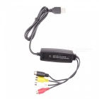 Mini Portable Single Channel USB Video Capture Card - Black