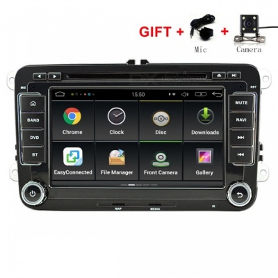 "Funrover 7"" Android 6.0 OEM Car DVD Player w/ 1024*600 GPS Auto Radio RDS for VW Golf Polo Jetta Skoda Seat Cars"