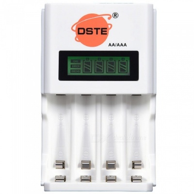 DSTE Household Standard Multi-functional Fast Charger with Four-slot LED Display for Rechargeable AA / AAA Battery