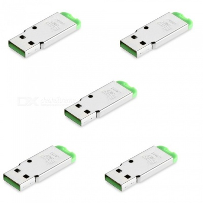 5-Piece USB Mini SD Card Reader - Green