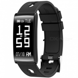 HM68 Sports Bluetooth Smart Bracelet with Blood Pressure, Heart Rate, Blood Oxygen Detection, Caller ID - Black