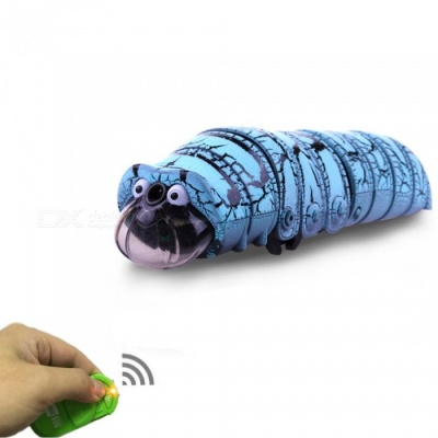Infrared Worm Remote Control Mock Fake Animal Funny Toy - Blue