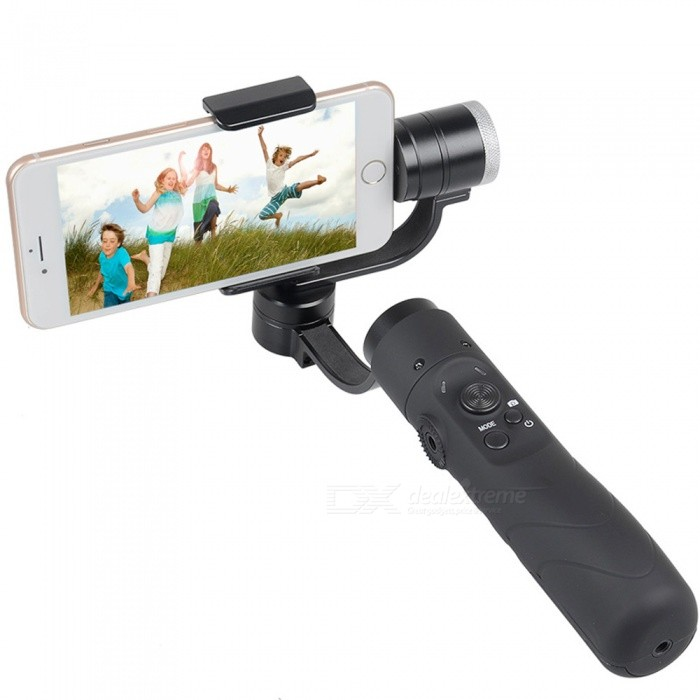 V3 Portable 3-Axis Gimbal Stabilizer for 3.5~6.1 Inches Cellphone - Black