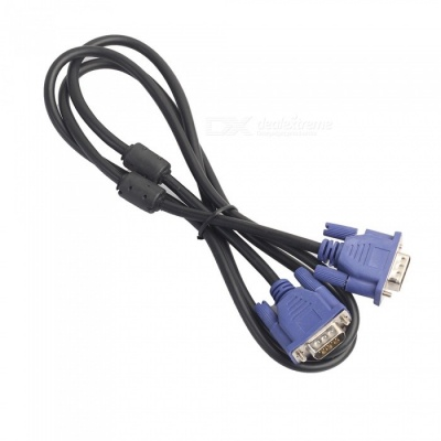 Dayspirit VGA Male to Male 1080P HD Cable for PC / Projector - Black + Blue (1.5m)