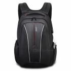 DTBG D8231 17.3 Inch Stylish Travel Business Laptop Backpack with USB Charging Port, Anti-theft Pockets for Women Men - Black