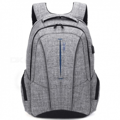 DTBG D8231 17.3 Inch Stylish Travel Business Laptop Backpack with USB Charging Port, Anti-theft Pockets for Women Men - Grey