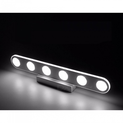 P-TOP 16W 220V 6-LED Modern Bathroom LED Mirror Light, Waterproof Wall Lamp - White Light