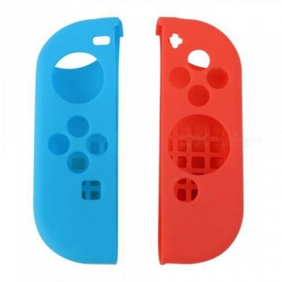 Kitbon Protective Case for Nintendo Switch Joy-Con Controller - Blue + Red (Pair)