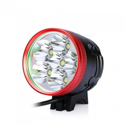 ZHAOYAO Ultrabright Bicycle Bike Flashlight Headlight Headlamp T6 LED Light - Red + Black
