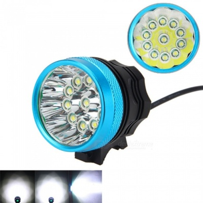 ZHAOYAO Outdoor T6 11-LED Bike Flashlight Bicycle Headlight Headlamp - Black + Blue
