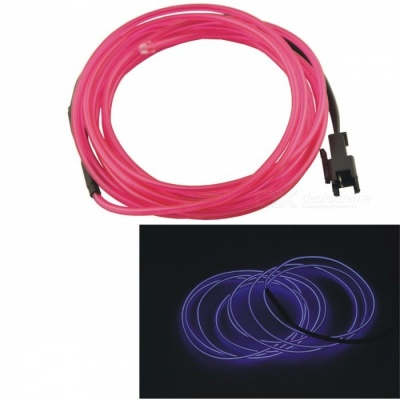 CARKING 2m Long 2.3mm Dia Flexible EL Wire Neon Glow Strip Rope - Purple Light