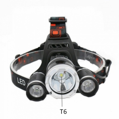 ZHAOYAO Ultrabright LED Flashlight Headlight Headlamp for Hunting, Fishing, Camping