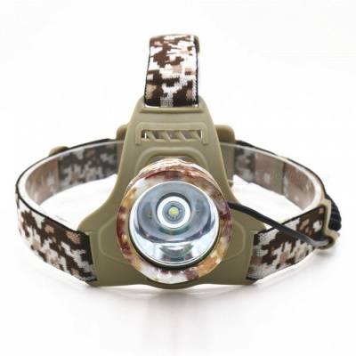 ZHAOYAO Outdoor Ultrabright T6 LED Headlight Headlamp for Fishing, Hunting, Camping - Camouflage