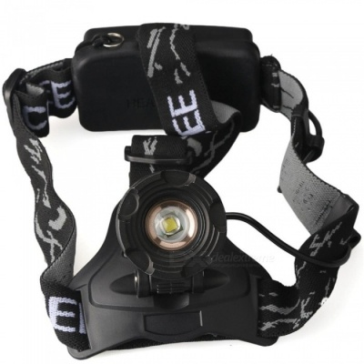 ZHAOYAO Ultrabright Zooming LED Headlight Headlamp for Hunting, Camping, Fishing