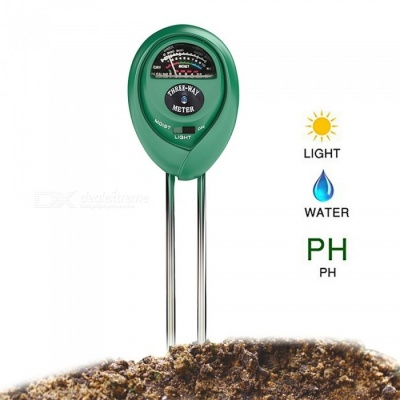 3-in-1 Portable Horticultural Detector PH Meter, Soil Moisture Meter, Light Intensity Tester - Army Green