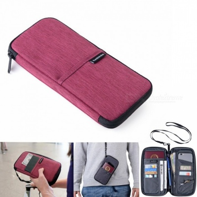 Naturehike Portable Outdoor Running Storage Bag for Cash Card Passport Collection - Red