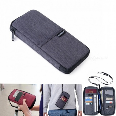 Naturehike Portable Outdoor Running Storage Bag for Cash Card Passport Collection - Gray
