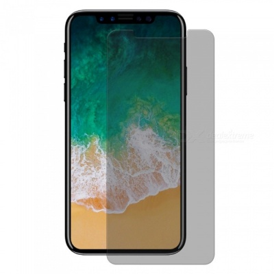 Hat-Prince 2.5D Tempered Glass Anti-Spy Protector for IPHONE X - Grey