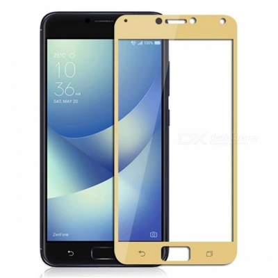 Naxtop Tempered Glass Full Screen Protector for Asus Zenfone 4 Max Pro/4 Max ZC554KL - Golden