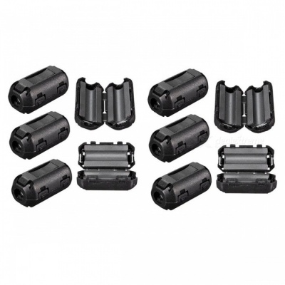 ZHAOYAO 5mm Removable Plastic Clip Noise Suppressor Cable Ferrite Core Filters (10 PCS)