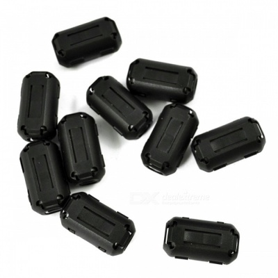 UF90B Clip-on Ferrite Ring Core RFI EMI Noise Suppressor Cable Clip for  9mm Diameter Cable - Black (10 PCS)