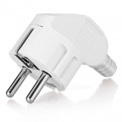 16A 250V Copper Feet Curved EU Plug - White