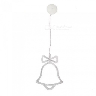 P-TOP Bell Shaped Glass Window Sucker Type LED String Light Lamp for Christmas Tree Holiday Decoration