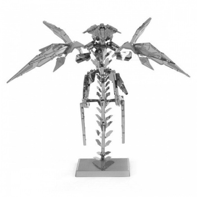 DIY Puzzle, 3D Stainless Steel Metal Game HALO Bird Assembling Model for Home Decoration, Educational Toy - Silver