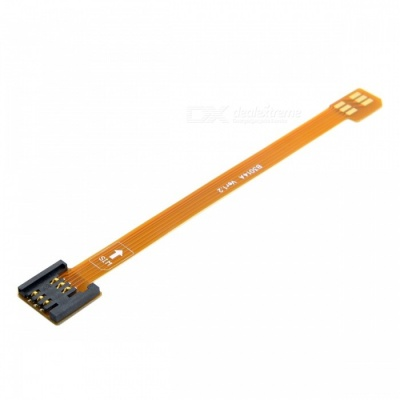 CY EP-110 3G 4G Micro SIM Card Kit Male to Standard UIM SIM Female Extension Soft Flat FPC Cable Extender (10cm)