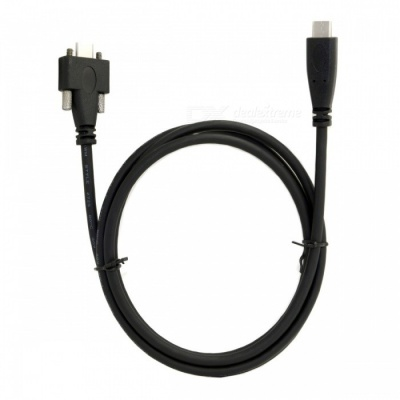 CY UC-047-1.2M USB 3.1 Type-C Cable Dual Screw Locking