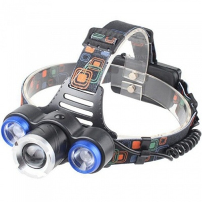 ZHAOYAO Ultrabright Waterproof LED Headlight Headlamp for Fishing, Camping - Blue + Black