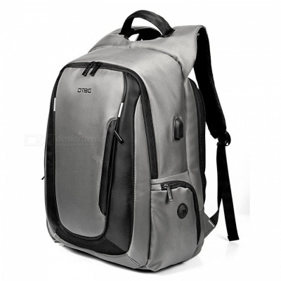 DTBG 17.3 Inches Laptop Backpack with USB Charging Port, Travel Day Pack, Multi-functional Rucksack for Men Women - Grey