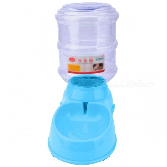 P-TOP 3.5L Large Capacity Plastic Automatic Pet Feeder for Cats Dogs, Pets Water Dispenser Food Bowl - Blue