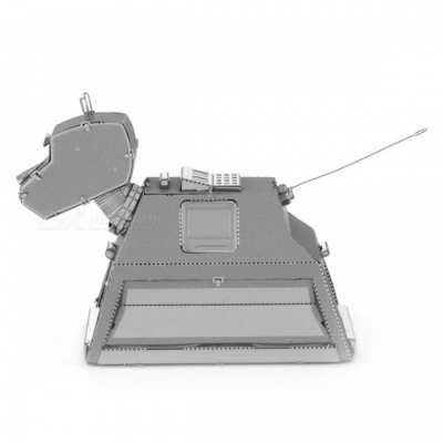 DIY Puzzle, 3D Stainless Steel Metal Home Decorative Robot Dog Model Toy for Children - Silver