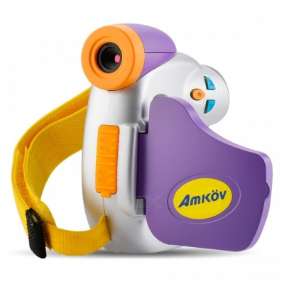 "AMKOV Mini 1.5"" 5.0MP High-Definition Cute Digital Camera w/ Adorable Cartoon Appearance for Kids Children"