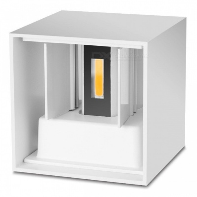 P-TOP Modern Waterproof 7W Warm White LED Wall Lamp for Indoor Outdoor Up and Down Lighting - White