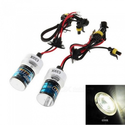 H3 12V 35W 4300K Warm White 3500LM Car HID Xenon Headlamp (2 PCS)