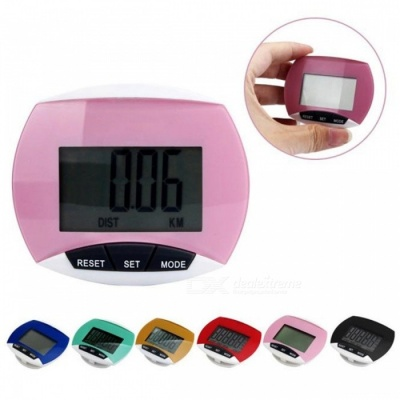 2017 New Outdoor Sports Run Step Pedometer Walking distance Calorie Counter with LCD Screen - Pink