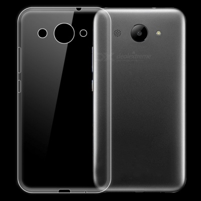 Dayspirit Ultra-Thin Protective TPU Back Case for Huawei Y3 2017, Y5 lite 2017 - Transparent