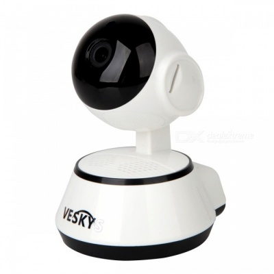 VESKYS 1.0MP 720P Mini Wireless Wi-Fi Security Surveillance IP Camera w/ Smart Phone Remote Monitoring (US Plug)
