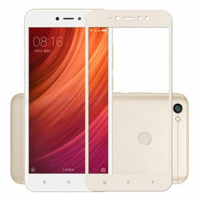 Naxtop Full Screen Protector Tempered Glass for Xiaomi Redmi Y1 - Gold