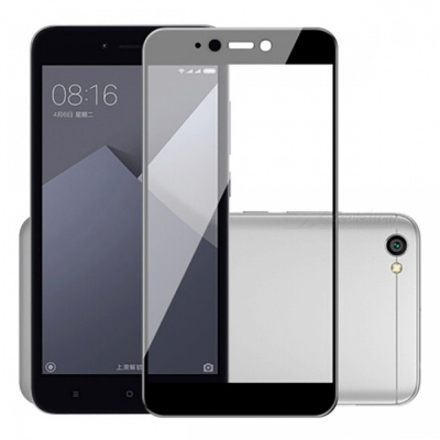 Naxtop Full Screen Protector Tempered Glass for Xiaomi Redmi Y1 Lite - Black