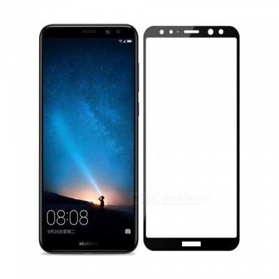 Naxtop Full Screen Protector Tempered Glass for Huawei Mate 10 Lite - Black