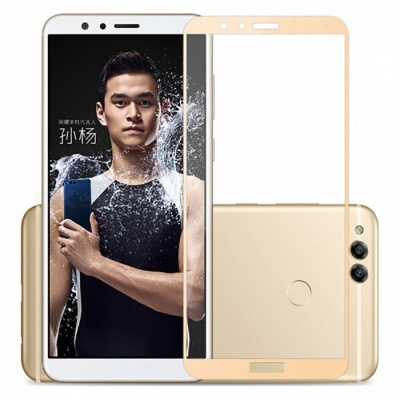 Naxtop Tempered Glass Full Screen Protector for Huawei Honor 7X - Golden