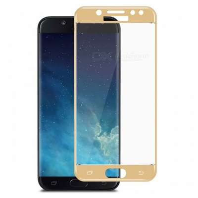 Naxtop Tempered Glass Full Screen Protector for Samsung Galaxy J7 Pro - Golden