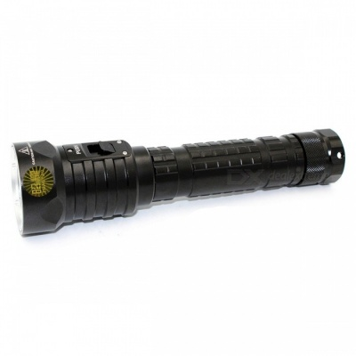 ZHAOYAO XM-L2 Handheld Waterproof 100m Super Bright 3-Mode LED Diving Flashlight Torch - Black