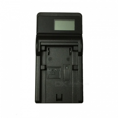 Ismartdigi VF823 LCD USB Camera Battery Charger for JVC BN-VF823 U VF808 VF815 GZ-HM1 HM400 - Black