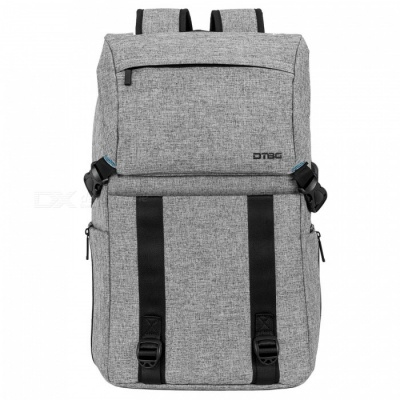 DTBG Casual Backpack Water-Resistant Hiking Daypack Travel Backpack with USB Charging Port - Grey