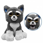 Super Cute Cartoon Toy Husky Dog Face-Changing Plush Doll for Kids