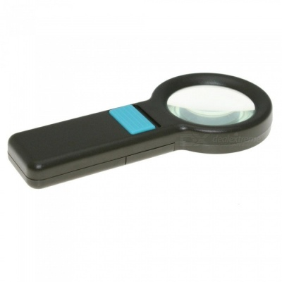 OJADE Handheld 5X High Magnification Magnifier w/ 8-LED Light for Old-people Reading Newspapers